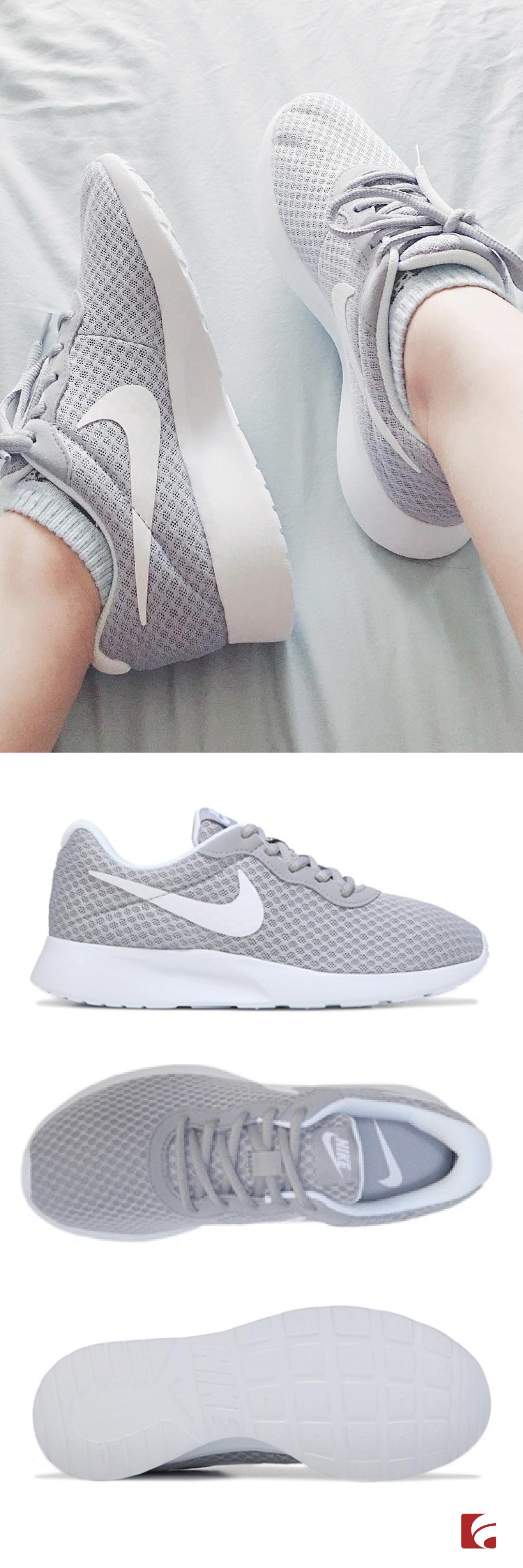 grey nike tanjun women's