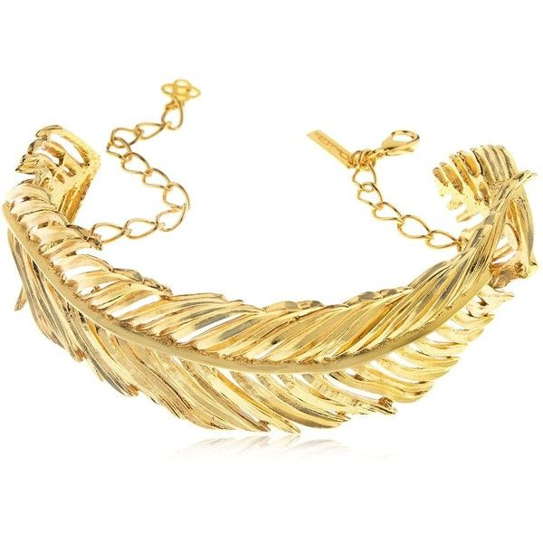 Oscar De La Renta Women Palm Leaf Choker (£565) ❤ liked on Polyvore