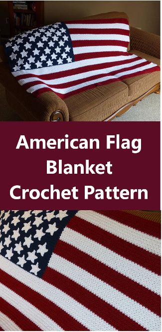 American Flag Blanket Crochet Pattern Affiliate Link Memorial