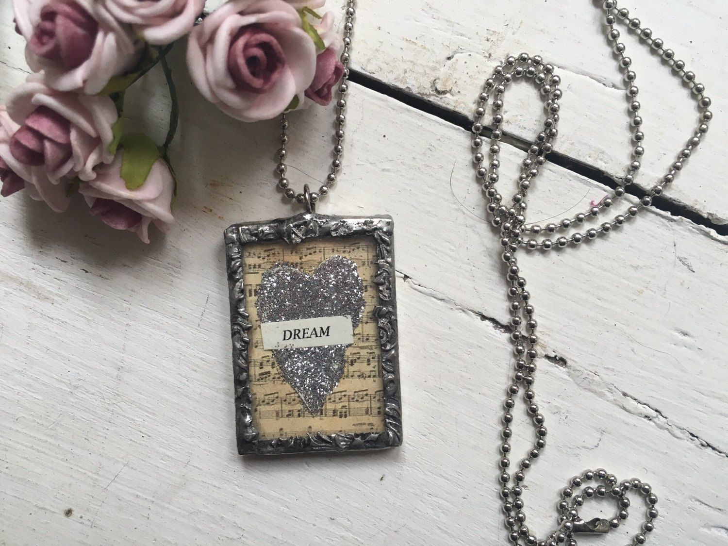 Dream soldered necklace by thequeenbeehandmade on Etsy