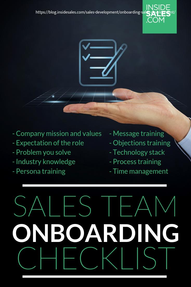 Onboarding Sales Development Top Tips For Sales Development Inside Sales Sales Development Onboarding Checklist Employee Onboarding