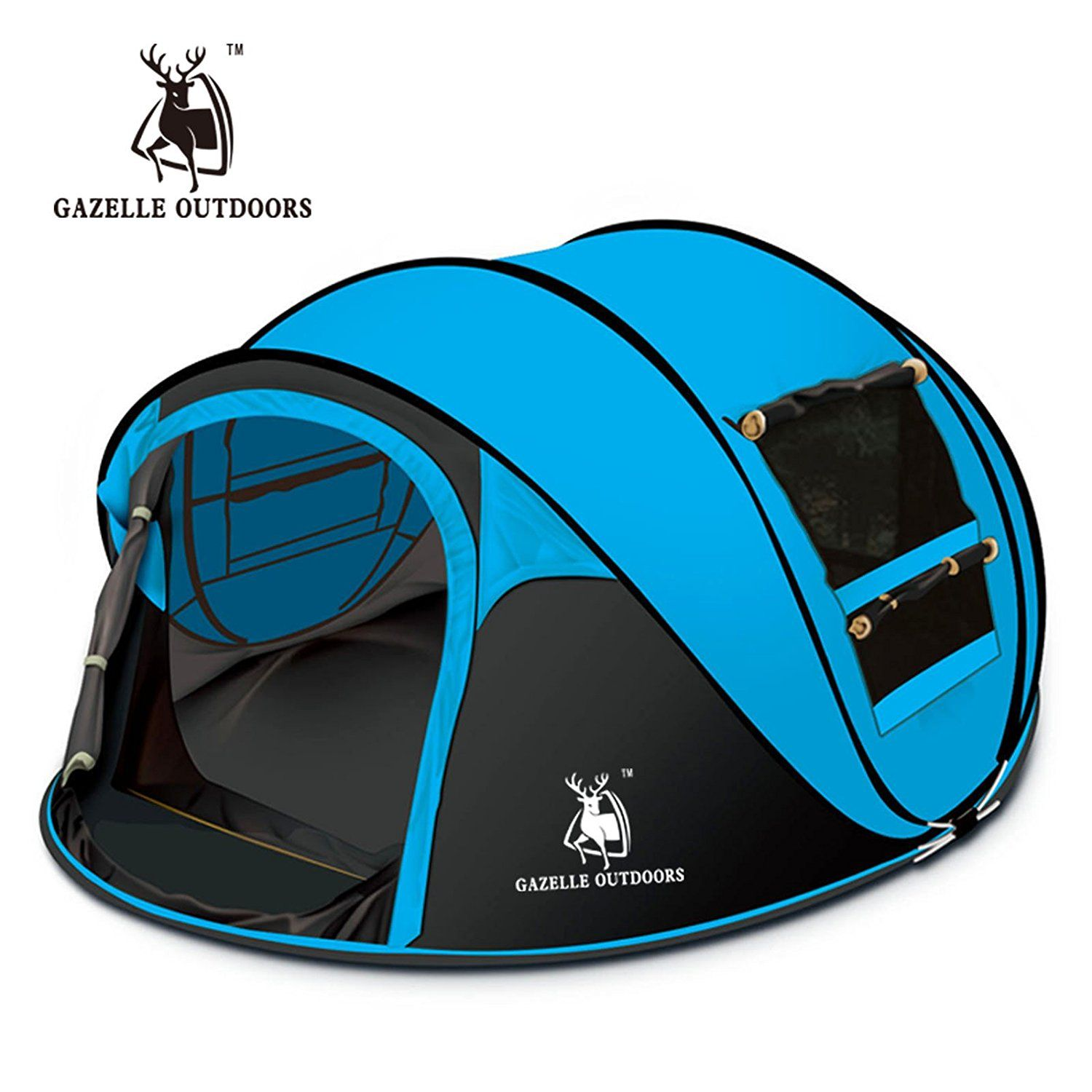 STAR HOME Seconds Pop-up Quick-opening Tents Person - Blue- * Tried it!  sc 1 st  Pinterest & Gazelle Outdoors Camping Hiking Large Instant Pop Up Tent - Double ...