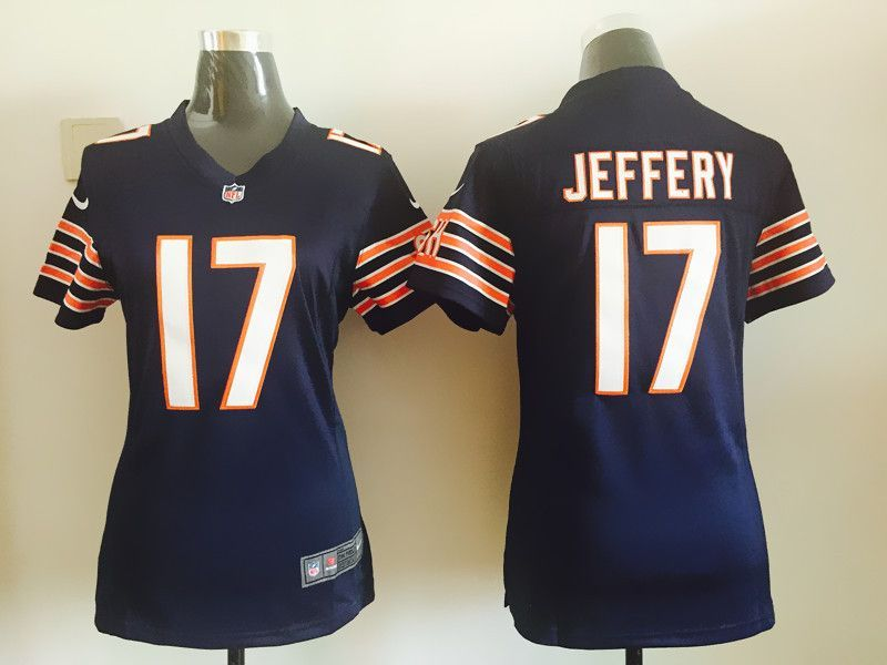 official photos 4d490 f0233 Womens Chicago Bears 17 Jeffery Blue Nike Jerseys | Chicago ...
