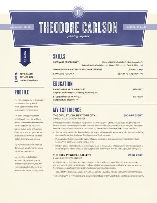 Nickel Try Art/Design Inspiration Pinterest Resume Design