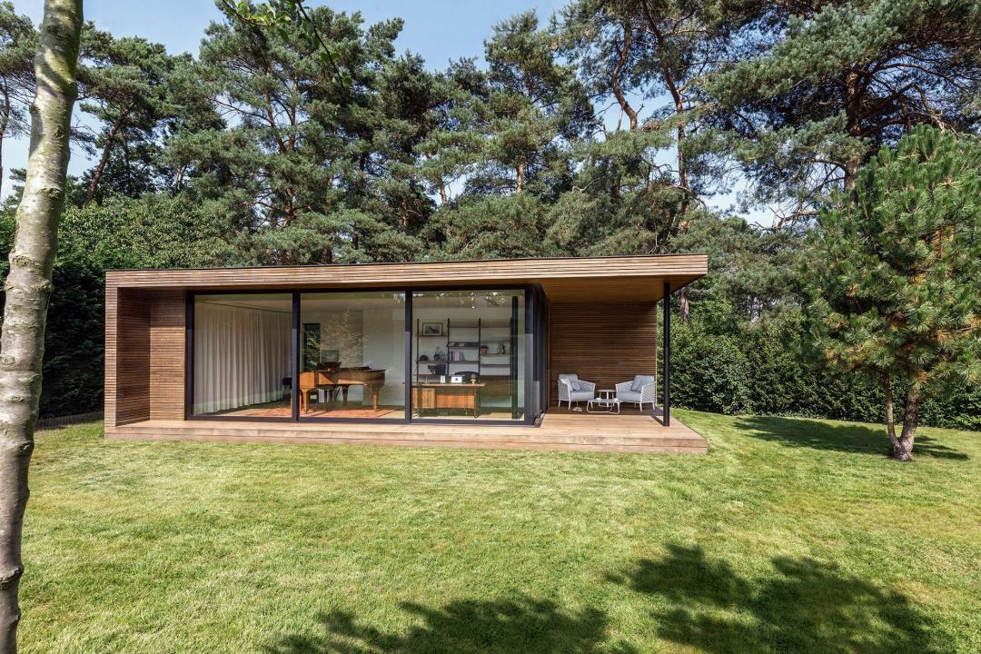 Pure tuinkantoor project thomas vanderveken veranda for Huis in de tuin
