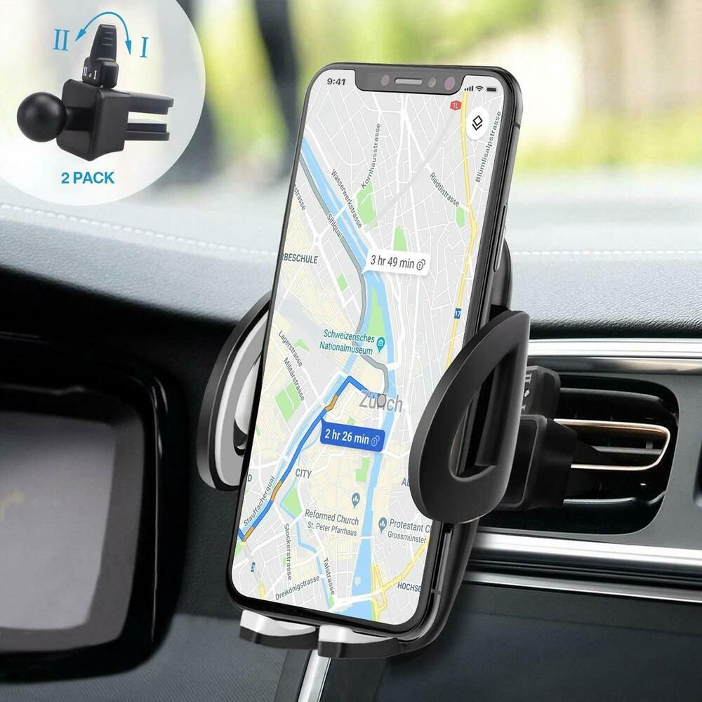 Support Telephone Voiture Grille Ventilation Avec 2 Pinces Rotation 360 Univ Izuku Support Telephone Voiture Telephone Voiture Support Telephone