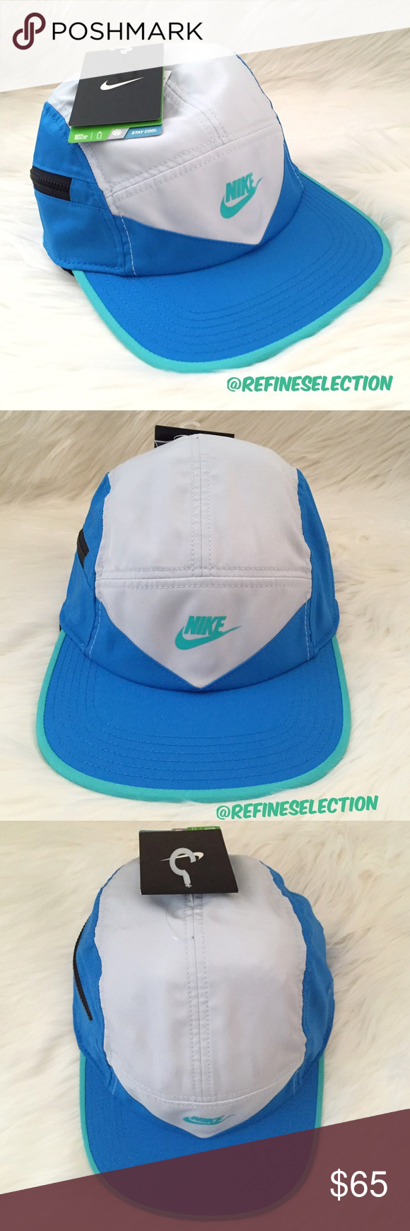 3c8fc3db577 Nike Windrunner 5 Panel Blue Grey Strapback Cap Brand new with tags