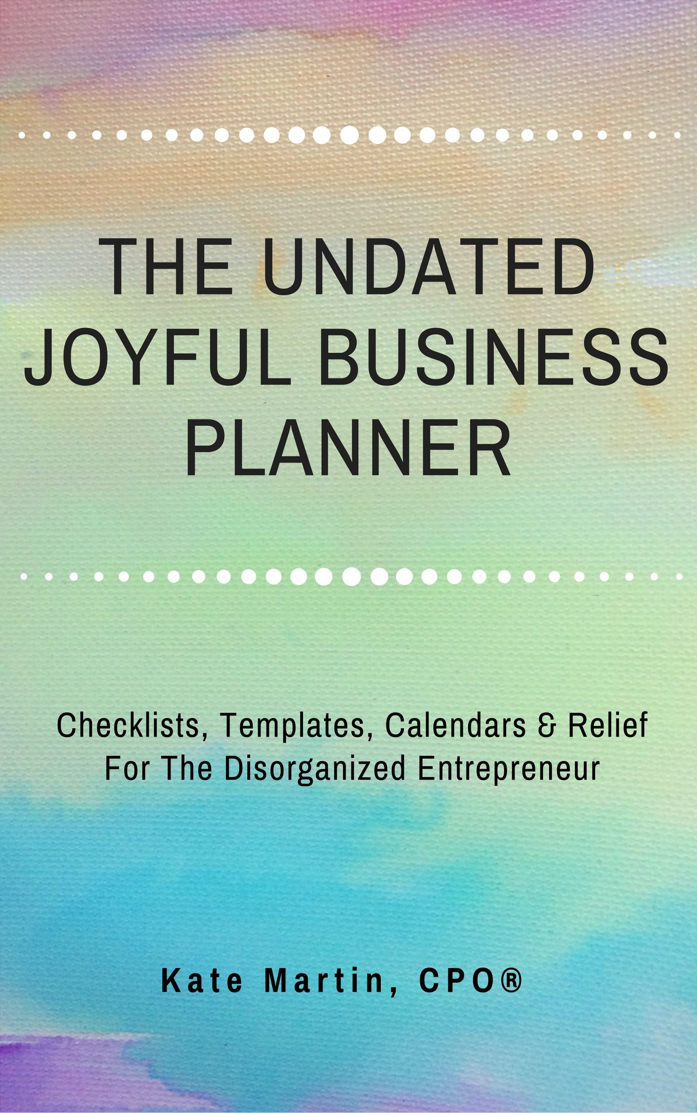 The Undated Joyful Business Planner Is 50 Worksheets