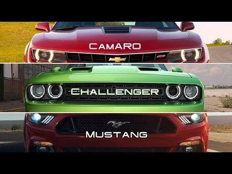 2015 Chevy Camaro Vs 2015 Ford Mustang Vs 2015 Dodge Challenger