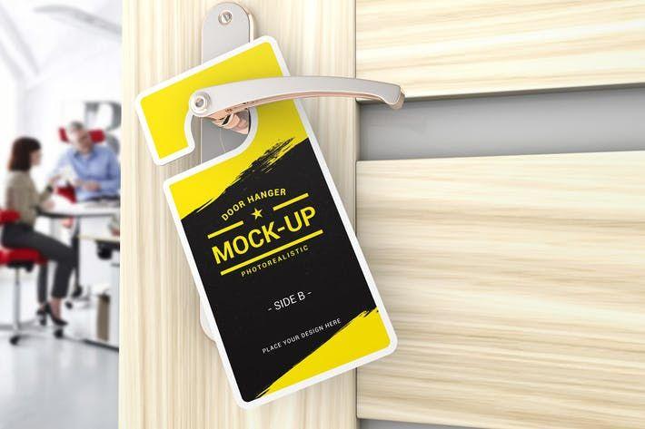 Door Hanger Mockups #up #service  • Download here → http://1.envato.market/c/97450/298927/4662?u=https://elements.envato.com/door-hanger-mockups-464YEX