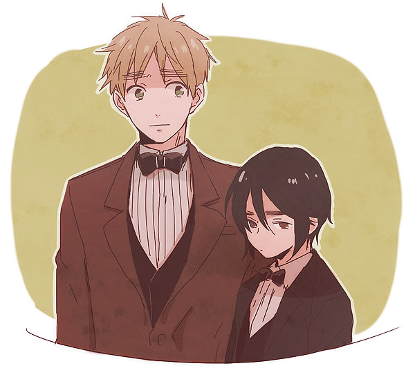Arthur and Ka Lung (head-canon name for Hong Kong) - Art by 梶川 on Pixiv, found via losthitsu.tumblr.com