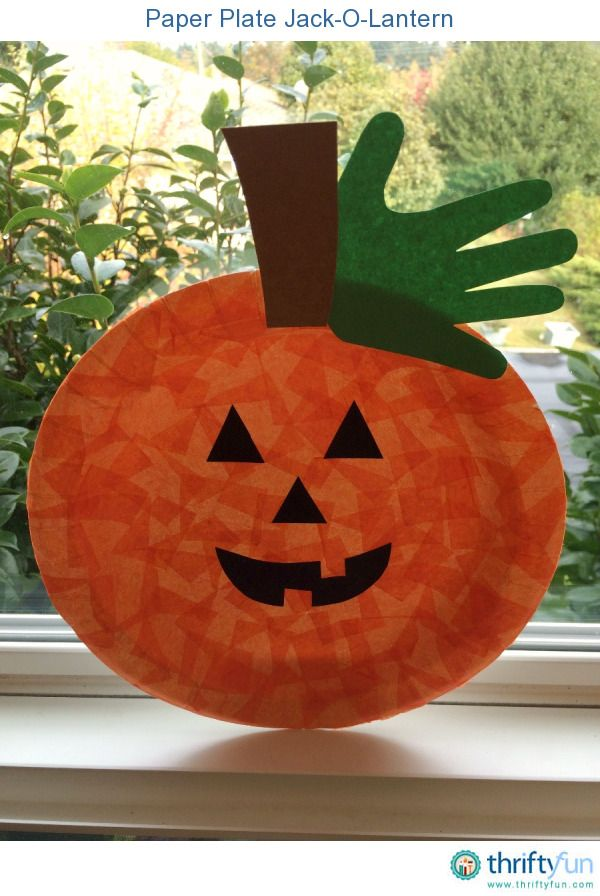Paper plate Jack-o-lanterns are a fun, kid-friendly project to make at home or at school.
