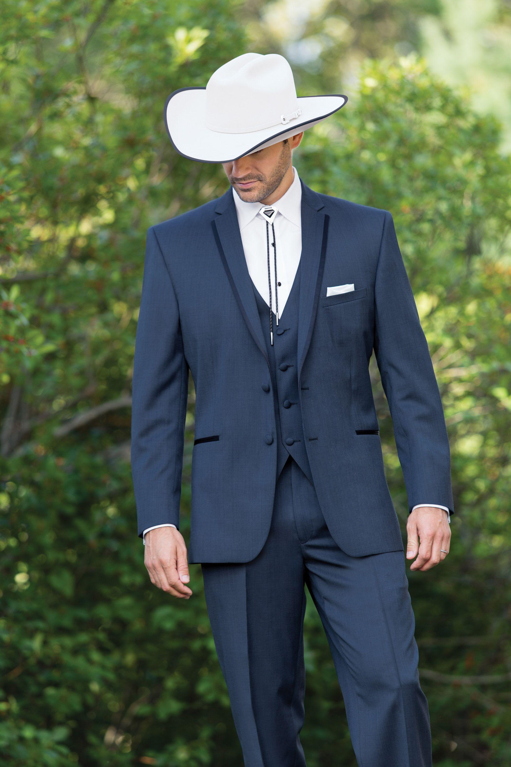 22cc151708a2 Stephen Geoffrey Aspen Slate Blue Tuxedo. Looks good on gentlemen & cowboys…