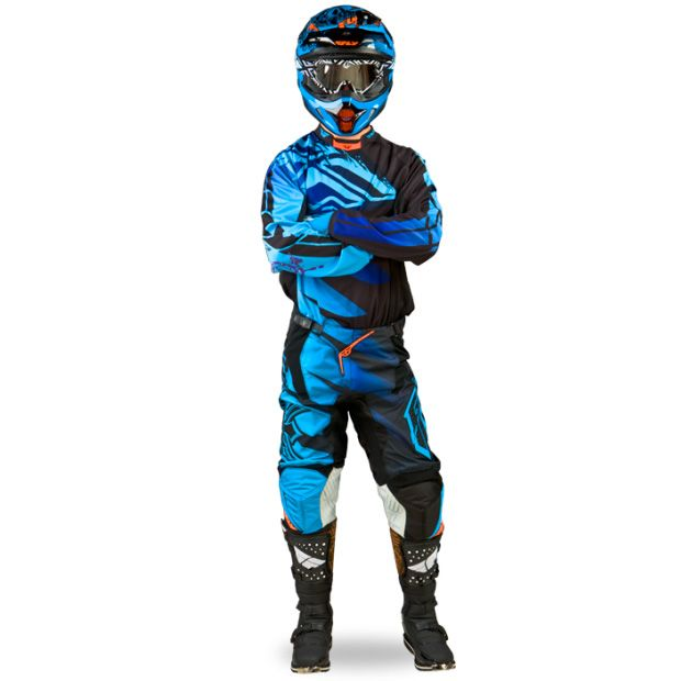 Fly Racing Kinetic Inversion Gear Blue Black Dirt Bike Gear Riding Gear Dirtbikes