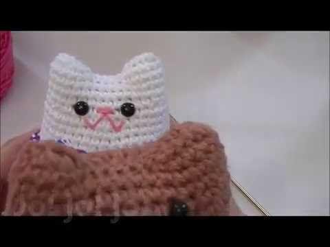 Amigurumi Gato Paso A Paso : Llavero amigurumi de gato paso a paso youtube crochet