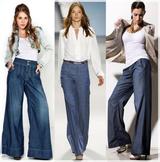 01d3a8401 Calça pantalona jeans