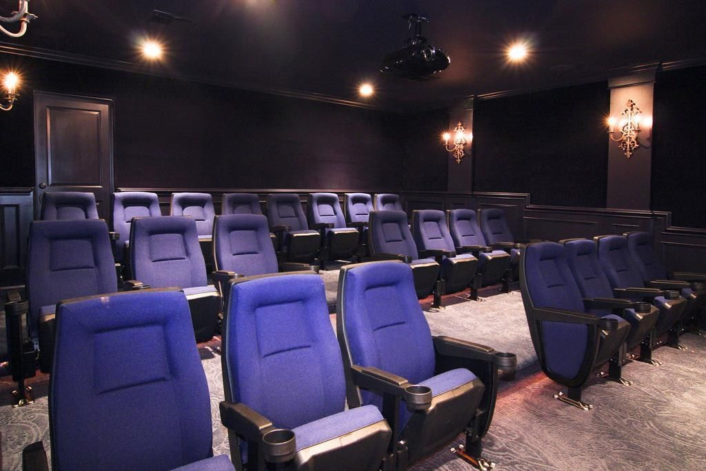 Home theater with bucket seating