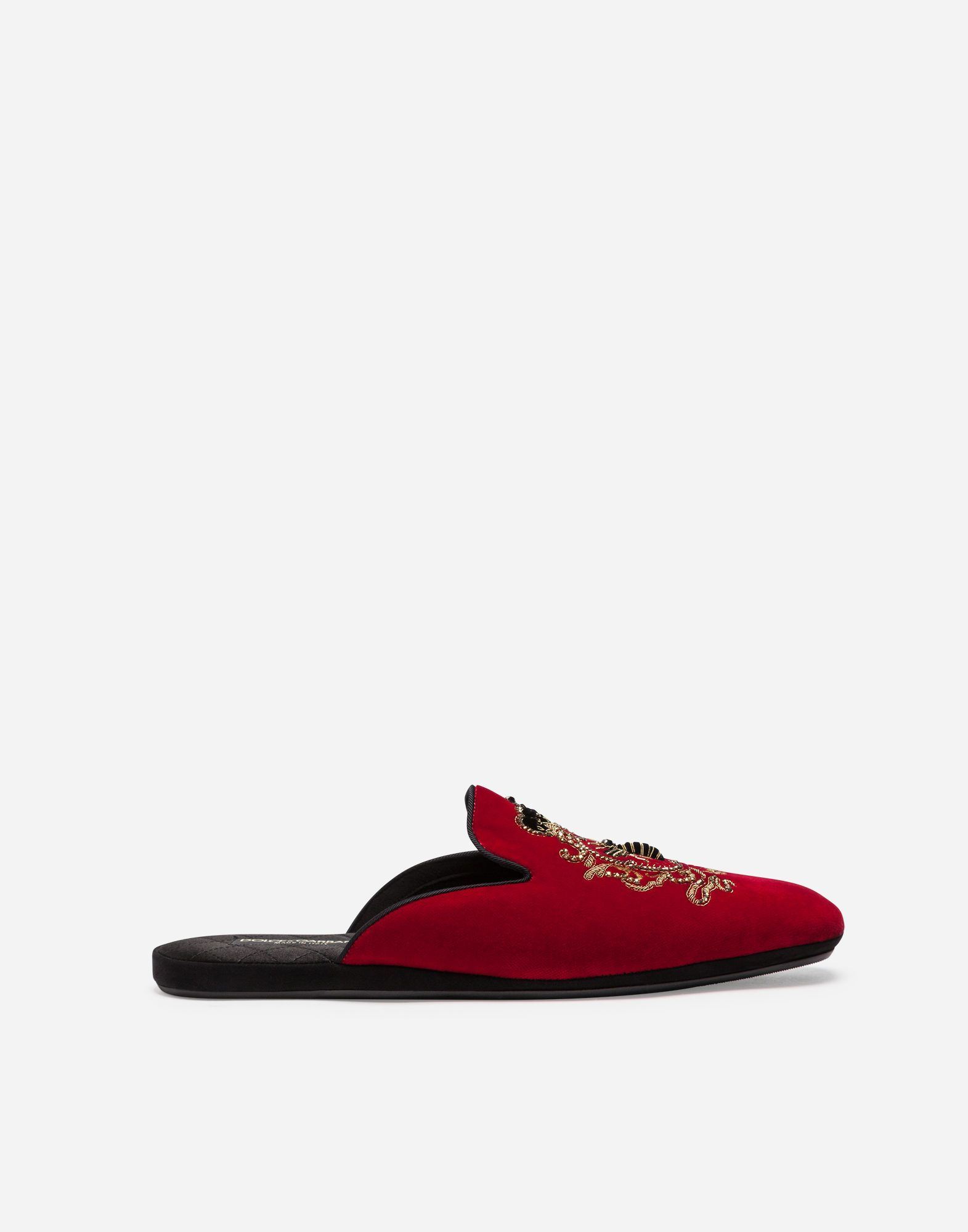 Printed Velvet SlippersDolce & Gabbana pJ4UUTYiUY