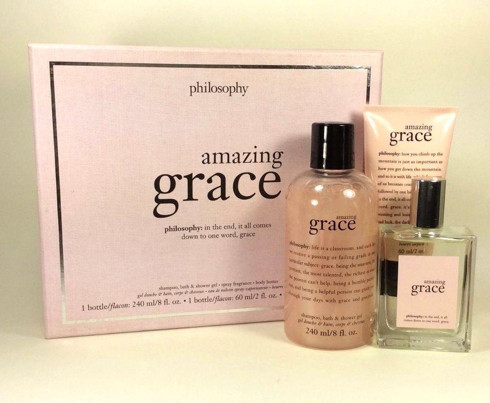 Philosophy amazing grace gift set full size body butter