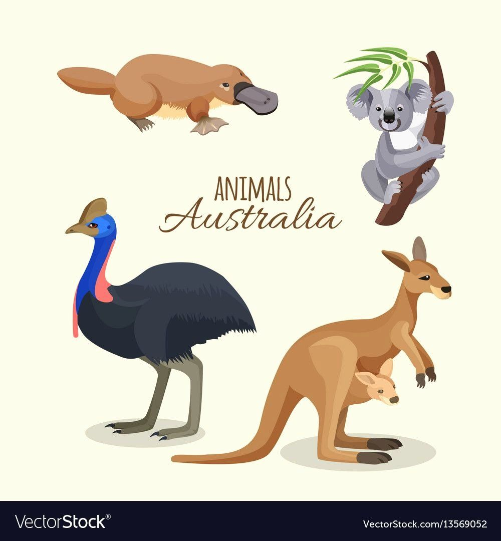 Australian Animals Coloring Page In 2020 Australia Animals Cartoon Animals Animal Coloring Books