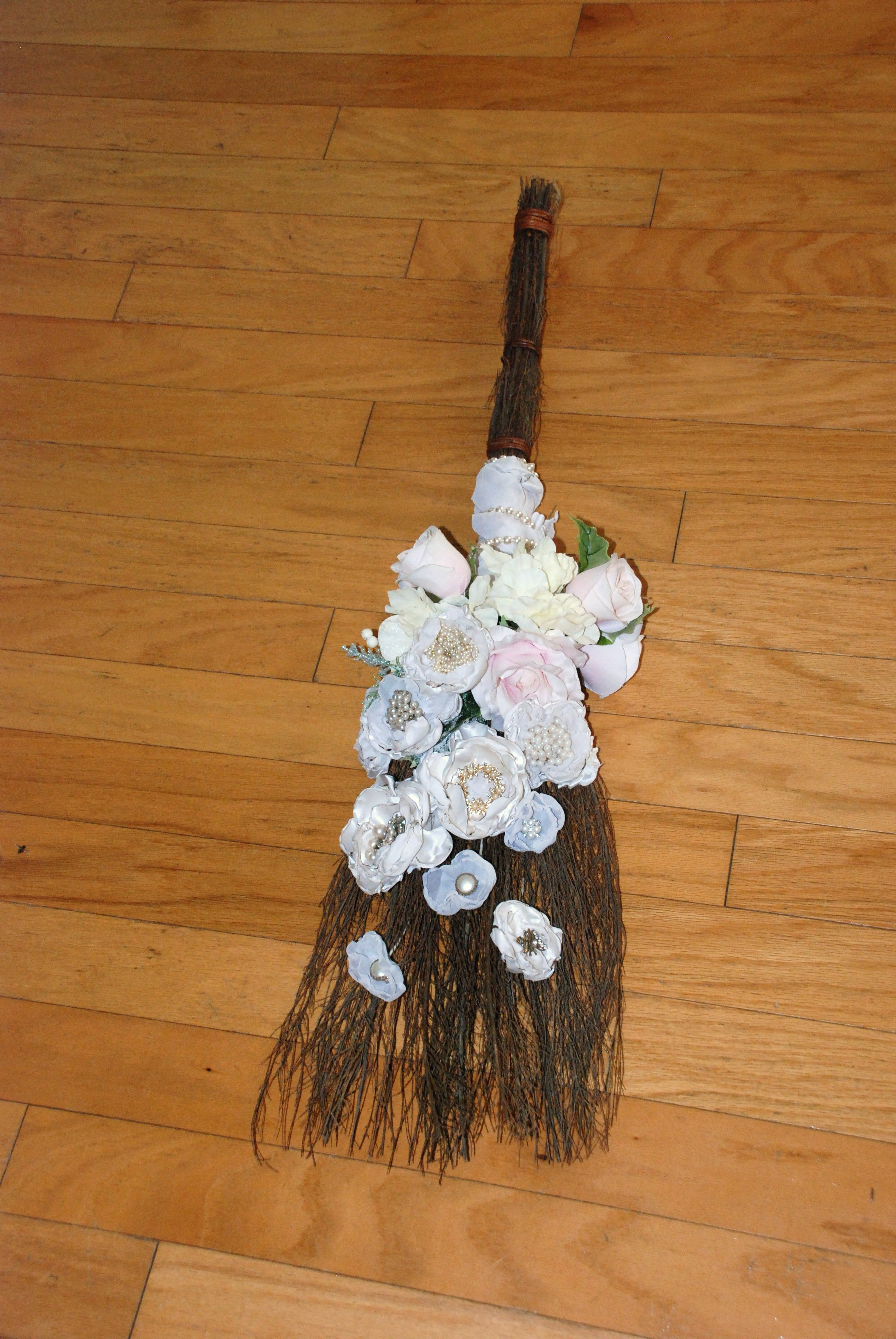 Gardenia Scented Broom With White Flower Arrangement Www