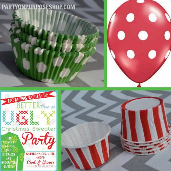 ugly christmas sweater party decorations by partyonpurposeshop