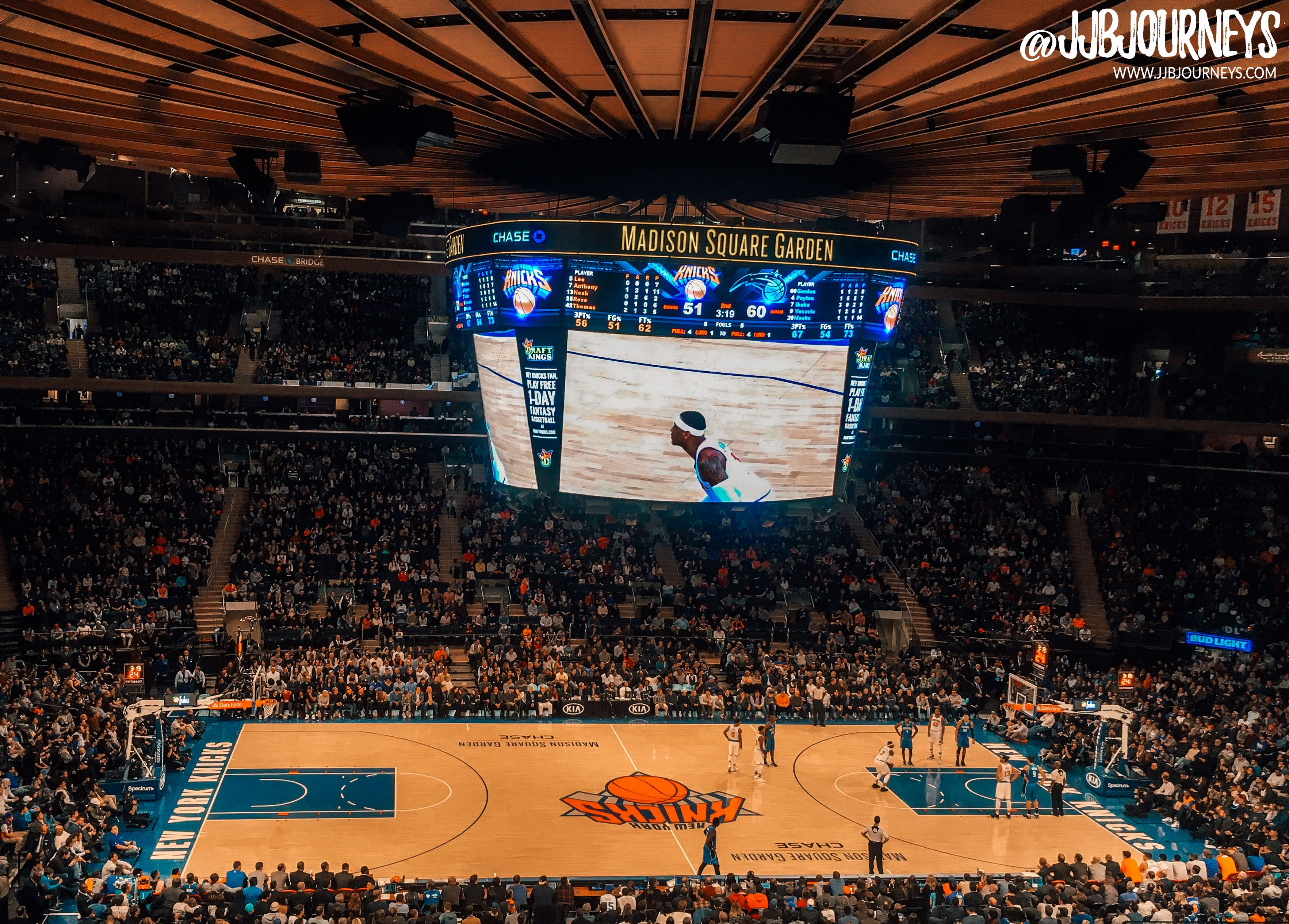 New York Knicks Basketball Game Madison Square Garden Manhattan