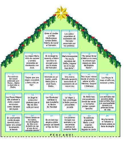Para colorear calendario de adviento 2014 navidad for Calendario adviento 2017