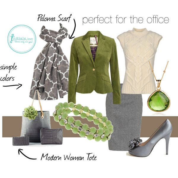 """Perfect for the office!"" by Initials-inc on Polyvore"