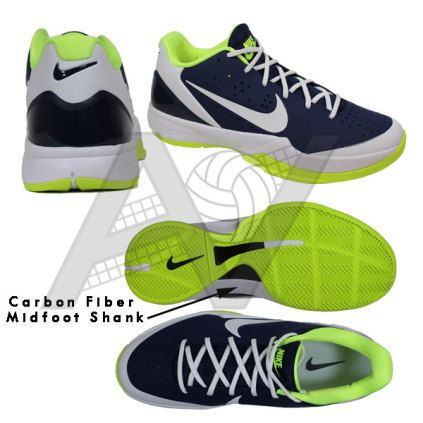 half off b0f83 155ec Nike Men s Air Zoom HyperAttack Volleyball Shoe - Navy Volt Featuring Nike  Flywire technology and a tough outer shell that provides a durable upper,  ...