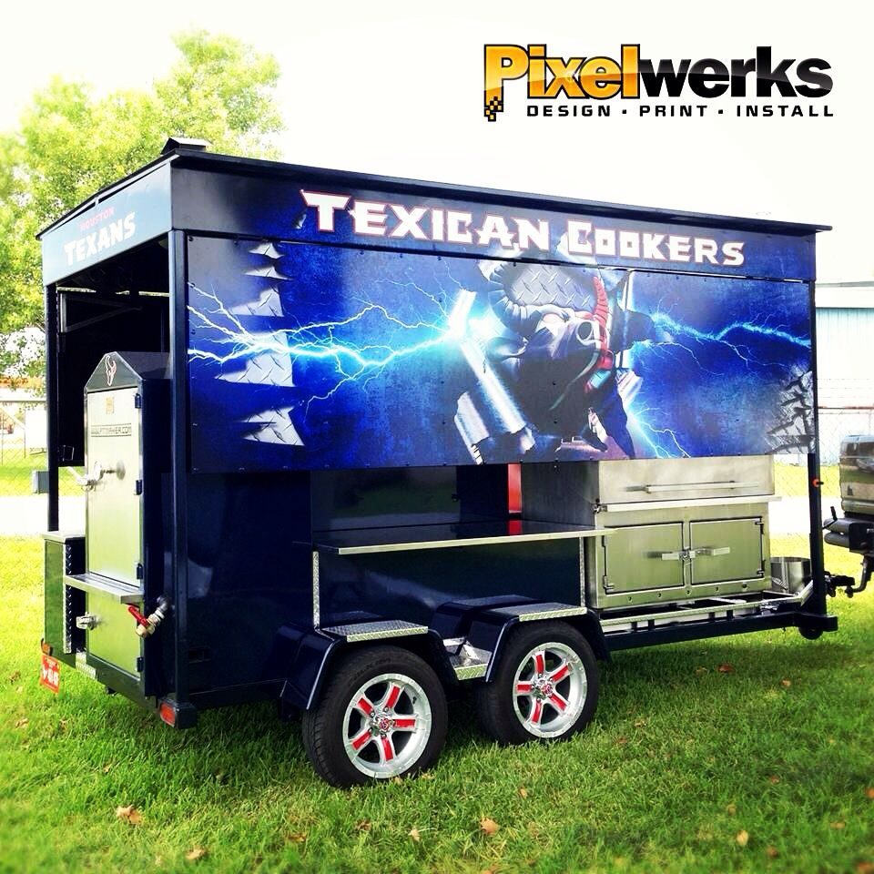 Our new BBQ Pit trailer from Pitmaker Bbq, Bar b que