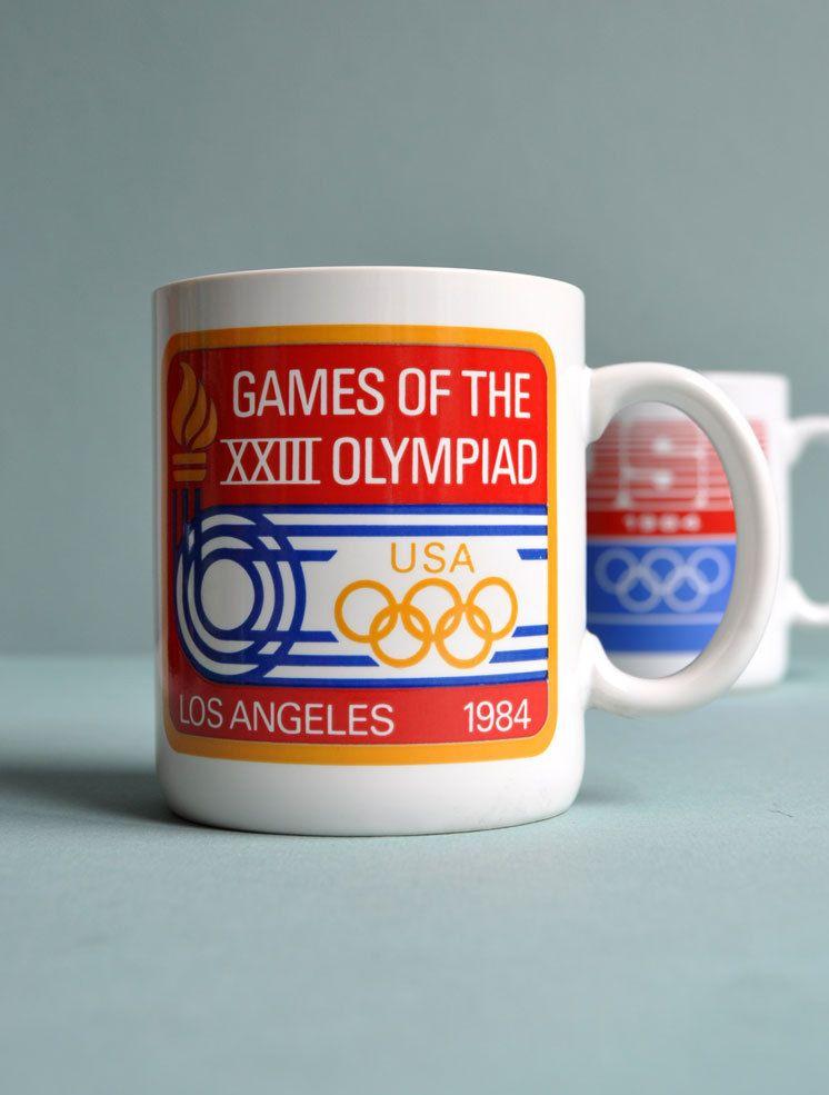 1984 Usa Olympics Mug Los Angeles Games Of The Xxiii Olympiad 10 00 Via Etsy Tazas Los Angeles Cartel