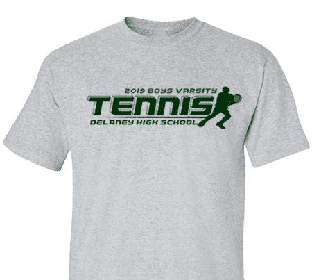 High School Impressions TN 017 wCustom Tennis Team T Shirts