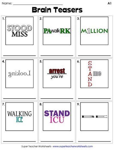 25 Best Ideas About Rebus Puzzles Printable Brain Teasers Brain Teasers For Kids Word Brain Teasers Printable rebus puzzles for kids