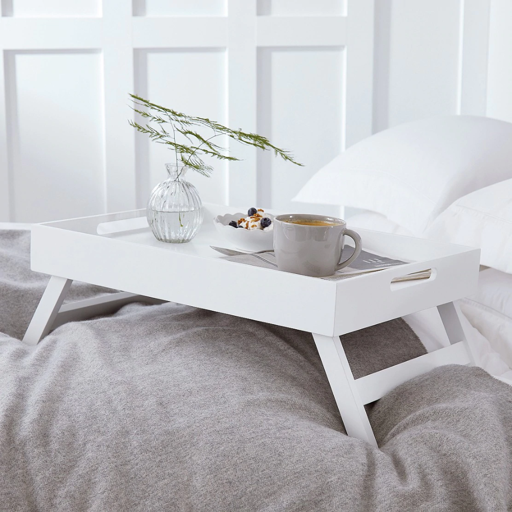 Matte White Breakfast In Bed Tray Home Accessories The White Company Uk In 2020 Bed Tray Breakfast In Bed Home Accessories
