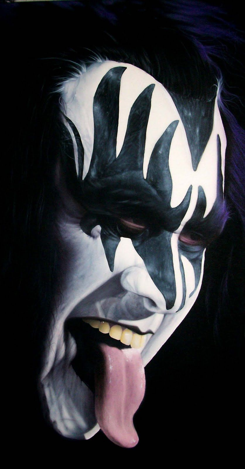 genesimmons got a spanking for climbing onto the