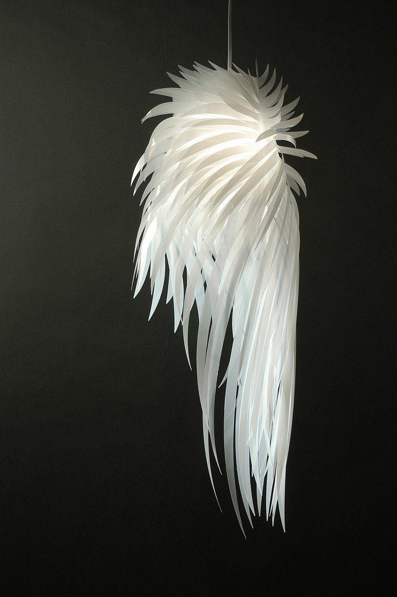 Icarus Wings Hanging Light // Tord Boontje. #lamp #chandelier #white #pendant