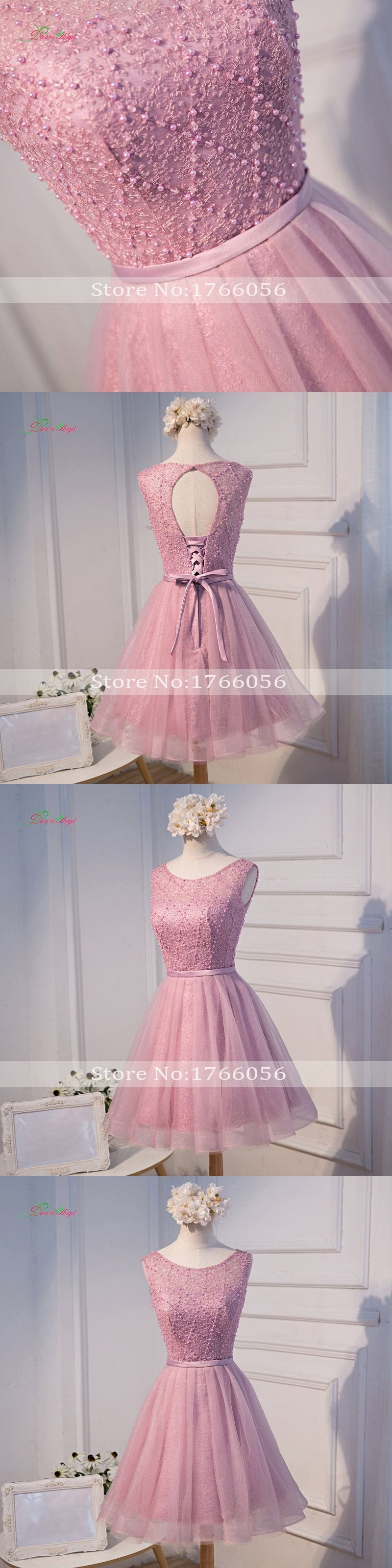 Dream angel elegant beading knee length homecoming dresses