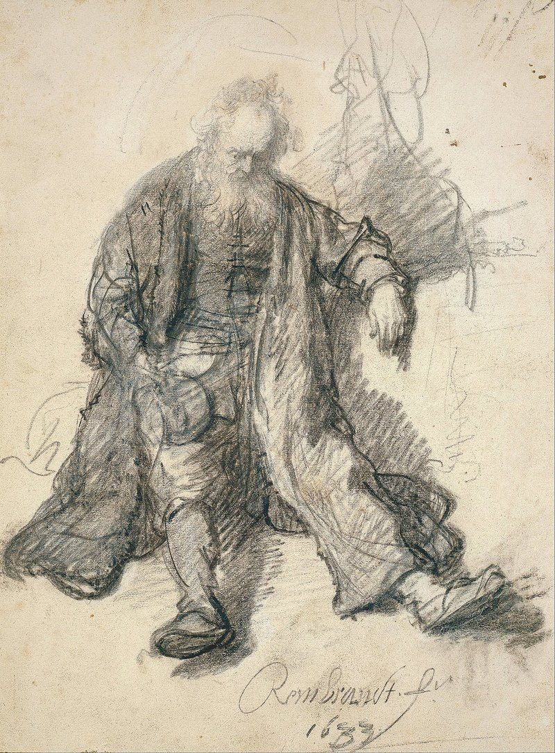 Rembrandt drawing collage art