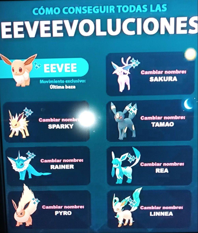 Como Conseguir Las Evoluciones De Eevee En Pokemon Go Pokemon Anime Pandora Screenshot