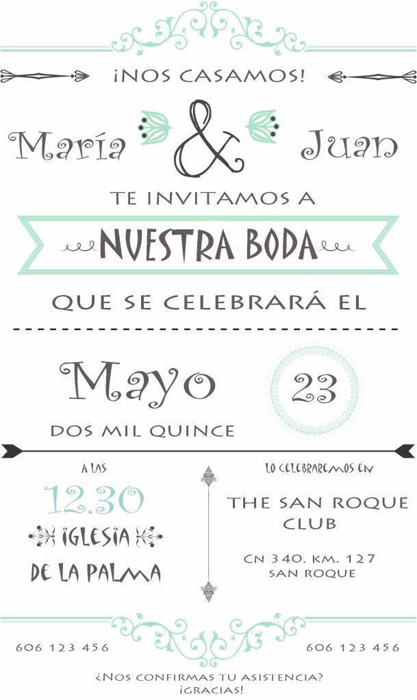Invitación De Boda Personalizada Boda Pinterest Boda