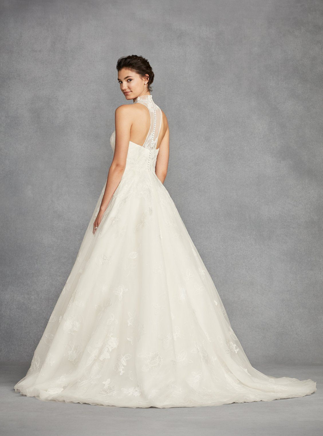 This White by Vera Wang ball gown combines the romance of a layered ...