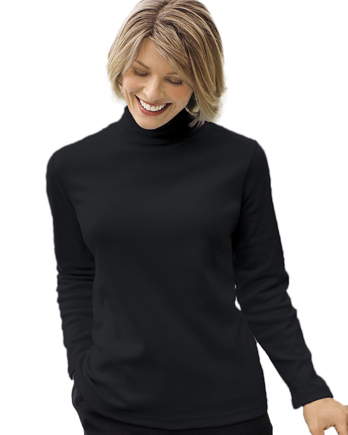 1c2bc96fea66d7 UltraSofts by National Women s Mock Turtleneck at Amazon Women s Clothing  store  Ladies Mock Turtleneck Tops