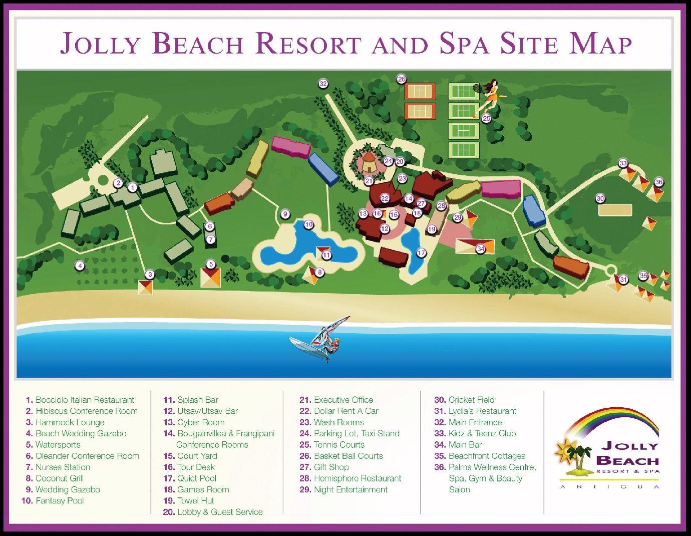 Layout Of Starfish Jolly Beach Resort