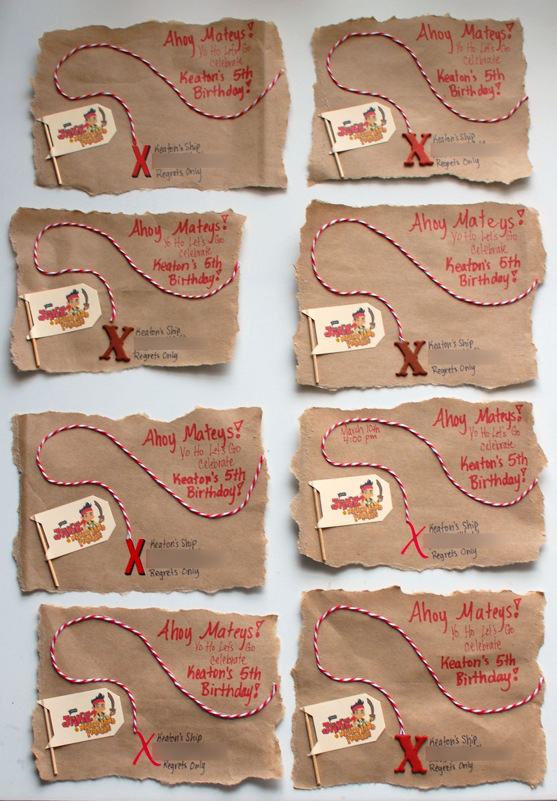 Tutorial Paper Bag Treasure Map Pirate Party Invitations
