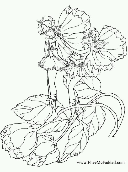 phee mcfaddell artist pretty free coloring page pfee