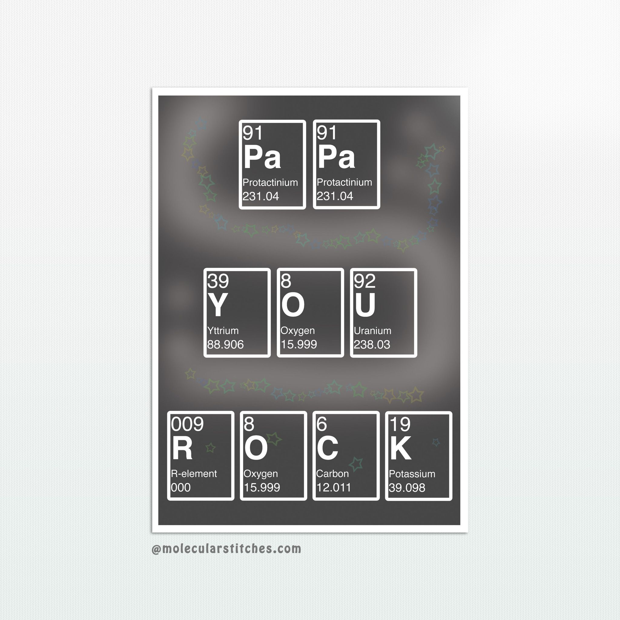 photo about Printable Element Cards called Periodic desk papa card printable, chemistry fathers working day