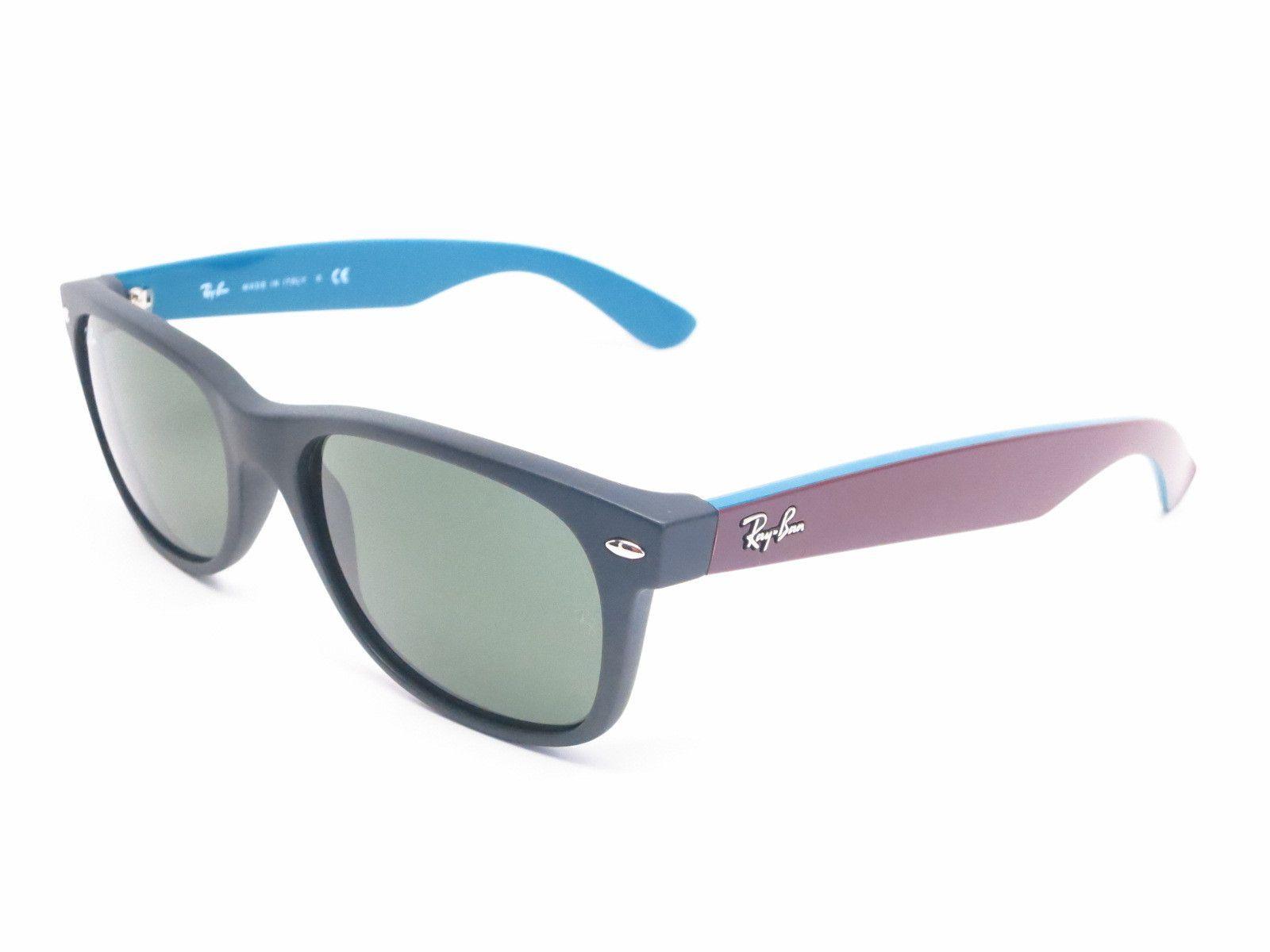 ca02133839 Ray-Ban RB 2132 New Wayfarer 6182 Matte Black Sunglasses