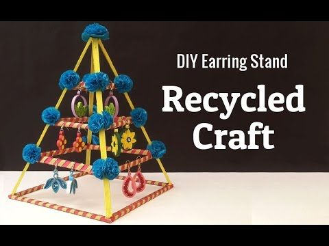 How to Make an Earring Holder From Cardboard DIY Jewelry organizer