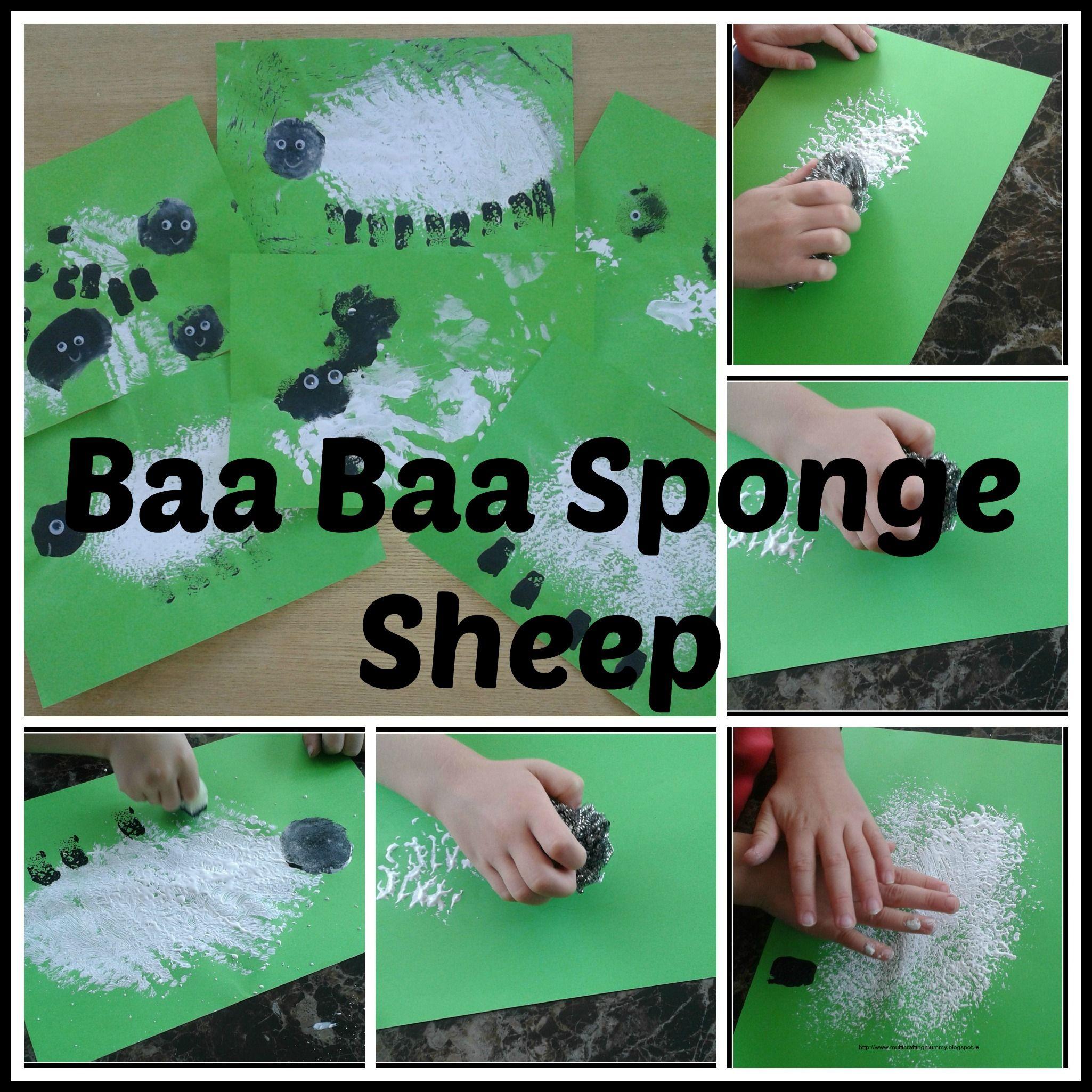 Baa Baa Sponge Painting Sheep